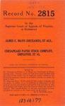 James C. Mayo (deceased), Employee, Sarah Mayo, et al. v. Chesapeake Paper Stock Company, Employer, et al.