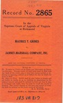 Maurice T. Grimes v. Janney-Marshall Company, Inc.