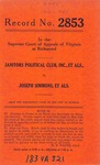Janitors Political Club, Inc., et al. v. Joseph Simmons, et al.