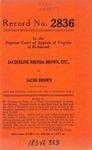 Jacquiline Brenda Brown, an Infant, etc. v. Jacob Brown