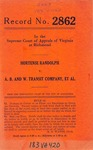 Hortense Randolph v. A. B. and W. Transit Company, et al.