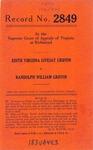 Edith Virginia Livesay Griffin v. Randolph William Griffin