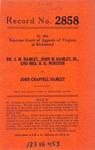 Dr. J. M. Hamlet, John M. Hamlet, Jr., and Mrs. B. K. Winston v. John Chappell Hamlet