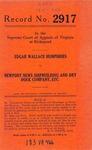 Edgar Wallace Humphries v. Newport News Shipbuilding and Dry Dock Company