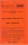 Sanitary Grocery Company, Inc., etc. v. Annie A. Steinbrecher