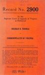 Holman B. Thomas v. Commonwealth of Virginia