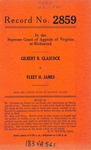 Gilbert B. Glascock v. Fleet H. James