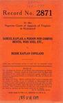 Samuel Kaplan v. Bessie Kaplan Copland