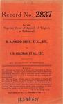 H. Raymond Smith, et al. v. S. B. Coleman, et al.