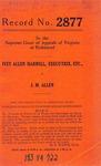 Ivey Allen Harrell, Executrix of the Estate of Lelia Stant Allen, deceased, et al. v. J. M. Allen