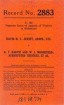 David H. T. Jewett, Administrator, etc. v. A. T. Harvie and W. S. Moorefield, Substituted Trustees, et al.