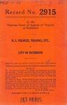 H. L. Pelouze, t/a Pelouze Sales Company v. City of Richmond
