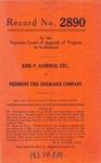 Kirk P. Aldridge, etc. v. Piedmont Fire Insurance Company