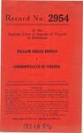 William Greggs Brenan v. Commonwealth of Virginia