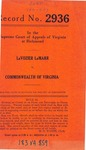 LaVozier LaMarr v. Commonwealth of Virginia