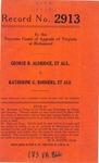 George B. Aldridge, et al. v. Katherine G. Rodgers, et al.