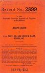 Joseph Cogito v. J. A. Dart, Jr. and Louis M. Dart, Executors, etc.