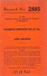 Paramount Communities, Inc., et al. v. James Abramson