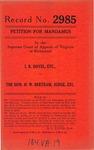 I. R. Dovel, etc. v. The Honorable H. W. Bertram, Judge
