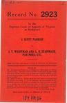 J.Scott Parrish v. J. T. Wightman and L. B. Stainback, Partners, etc.