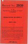 Virginia Electric and Power Company v. Mary S. Hall