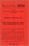 Maurice D. Adams, et al. v. United States Distributing Corporation, et al.