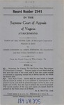 Town of Big Stone Gap v. James Johnson, by Amos Johnson