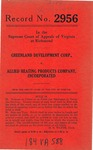 Greenland Development Corporation v. Allied Heating Products Company, Inc.