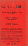 George P. Wilson and Louise S. Wilson v. Schmidt & Wilson, Inc.