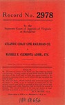 Atlantic Coast Line Railroad Company v. Russell E. Clements, Administrator of the Estate of William Earl Clements
