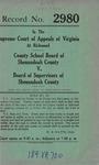 County School Board of Shenandoah County v. Board of Supervisors of Shenandoah County