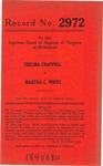 Thelma Chappell v. Martha C. White