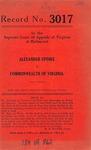Alexander Updike v. Commonwealth of Virginia