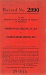 Virginia Stage Lines, Inc., etc. v. Franklin Monroe Spencer, by his next Friend, John A. Spencer