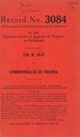Leo M. Seay v. Commonwealth of Virginia