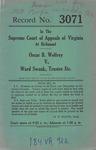 Oscar B. Wolfrey v. Ward Swank, Trustee, etc.