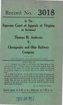 Thomas M. Andrews v. Chesapeake and Ohio Railway Company