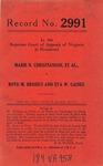 Marie N. Christianson, et al. v. Boyd M. Brosius and Eva W. Gaines