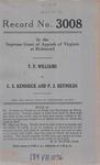 T. F. Williams v. C. E. Kendrick and P. J. Reynolds