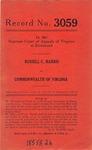 Russell C. Harris v. Commonwealth of Virginia