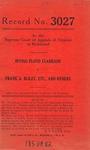 Irving Floyd Clarkson v. Frank A. Bliley, etc., et al.