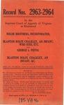George  L. Feitig v. Blanton Rolfe Chalkley, an Infant Who Sues by His Next Friend, Bernard E. Chalkley