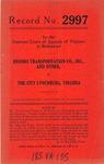 Brooks Transportation Co., Inc., et al., v. The City of Lynchburg