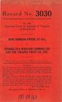 Rose Simmons Owens, et al., v. Eudora Eva Whitlow Simmons Lee and The Virginia Trust Company, etc.