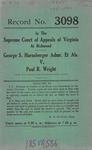 George S. Harnsberger v. Paul R. Wrigh