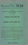 Virginia Stage Lines , Inc., v. Leonard J. Duff