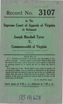 Joseph Marshall Tyree v. Commonwealth of Virginia