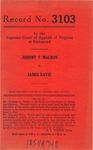 Johnnie T. Malbon v. James Davis
