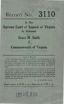 Grace M. Smith v. Commonwealth of Virginia