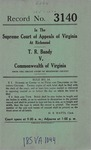 T. R. Bandy v. Commonwealth of Virginia